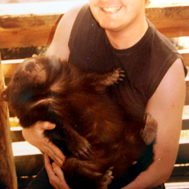 I cuddled a wombat! Interesting fact: they have giant armour-plated butts!